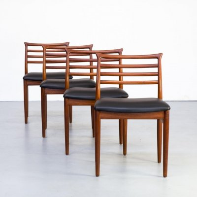 Set of 4 Erling Torvits dining chairs for Sorø Stolefabrik, 1960s
