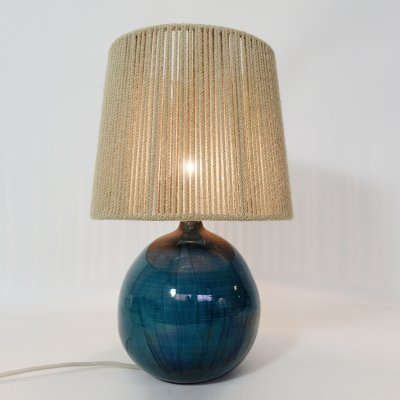 Large table lamp with a glazed ceramic base
