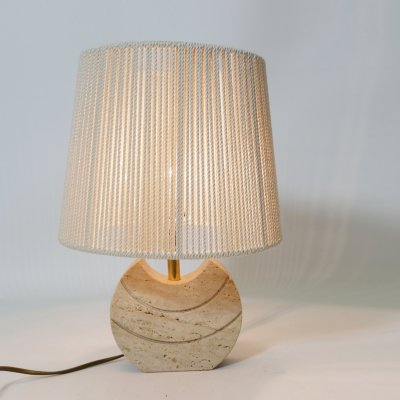 Little travertine table lamp, Italy 1970s