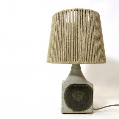 Table lamp with a rope shade, 1960s