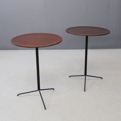 Pair of Model T44 Side Tables by Osvaldo Borsani for Tecno, 1950s