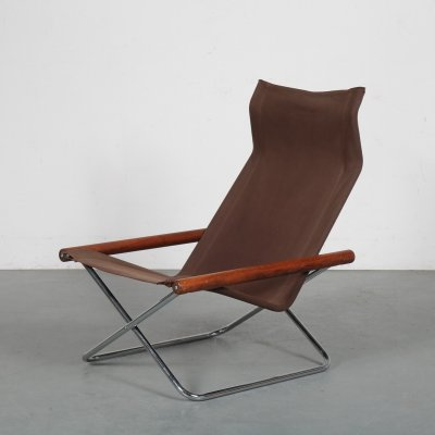 Folding lounge chair by Takeshi Nii for Jox Interni, Italy 1970s