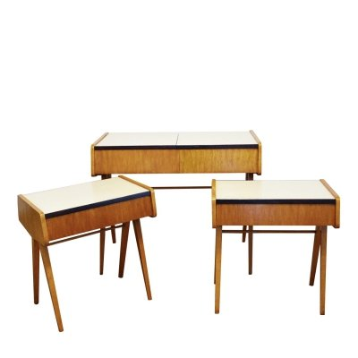 Set of 3 Bedroom side tables by František Jirák