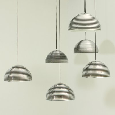 Set of Six Saturno Pendant Lamps by Kazuo Motozawa