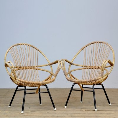 Pair of Rohé Noordwolde arm chairs, 1950s