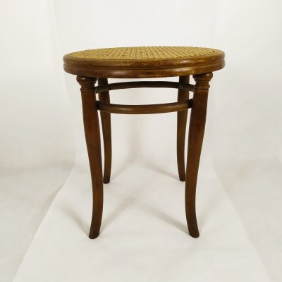 Vienna school No. 4611 bentwood stool by Thonet