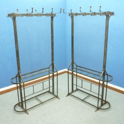 Pair of Cast Iron Clothes Racks, 1900s