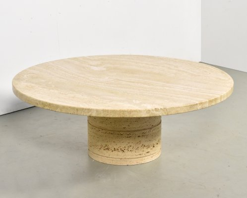 Travertine coffee table by Up & Up, 1970s