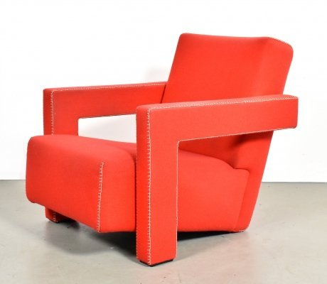 Utrecht 637 lounge chair by Gerrit Rietveld for Cassina, 1990s