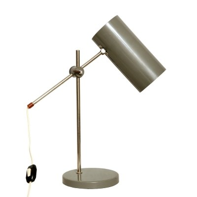Metal desk lamp by Polam Meos Warszawa, Poland 1970s