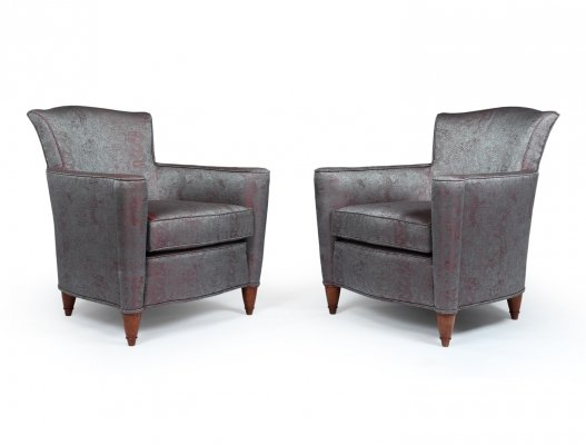 Pair of Art Deco Chairs covered in Jean Paul Gaultier Skin