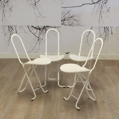 Set of 4 Dafne Folding Chairs by Gastone Rinaldi for Thema, 1970s