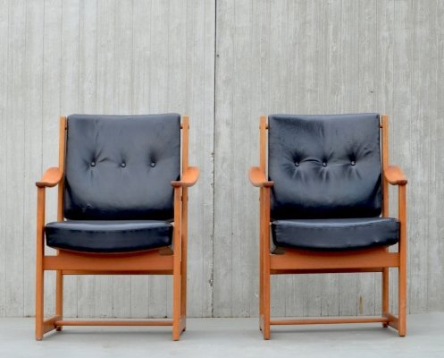 Sven Kai Larsen arm chairs for Nordiska Kompaniet, 1960s