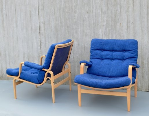 Pair of Bruno Mathsson 'Ingrid' chairs for Dux