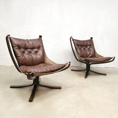 Set of vintage Falcon chairs by Sigurd Ressell for Vatne Mobler, 1970s