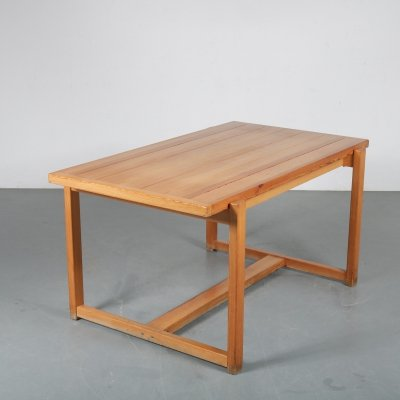 Pine dining table, Sweden 1960s