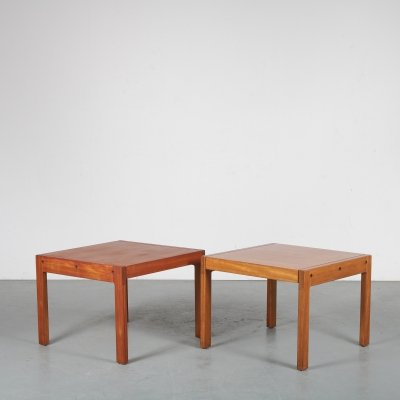 Pair of side tables by de Coene, Belgium 1960s