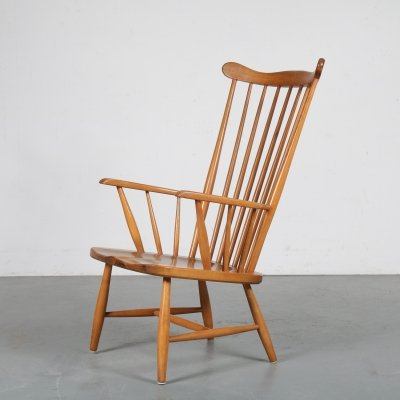 Spokeback lounge chair, Sweden 1950s