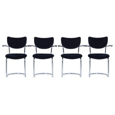 Set of 4 Cantilever Chairs 3011 by De Wit, 1950s