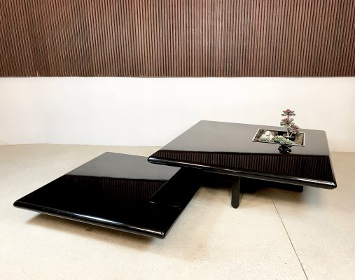 Pair of Large High-Gloss Coffee Tables, Italy 1960s