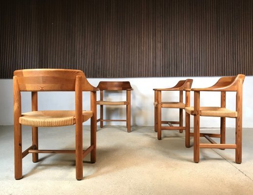 Set of 4 Danish Pinewood Dining Chairs by Rainer Daumiller for Hirtshals, 1970s