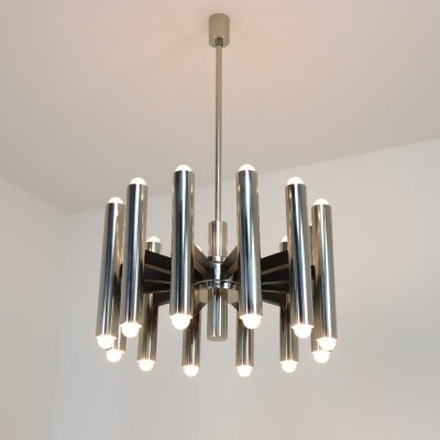 Set of 3 impressive 24 light chandeliers, 1960/1970
