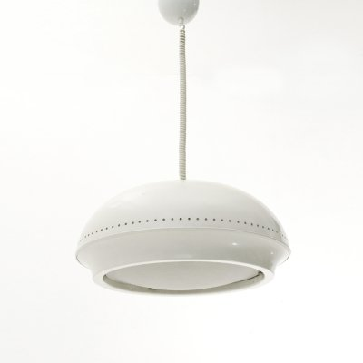 White 'Nigritella' pendant lamp by Tobia Scarpa for Flos, 1960s