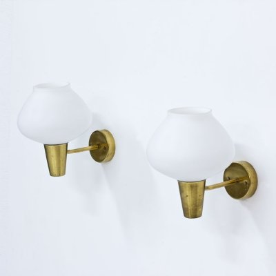 Pair of Swedish Wall Lamps by ASEA, 1950s