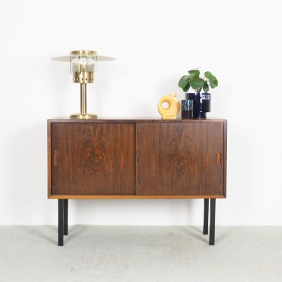 Small rosewood sideboard with sliding doors by HG Furniture, 1960's