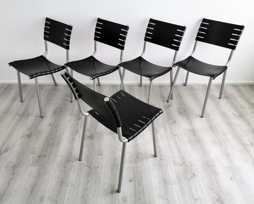 Set of 5 Harvink Dining Chairs by Ruud Jan Kokke, 1990's