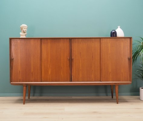 Vintage teak highboard by Omann Jun Møbelfabrik, 1970s