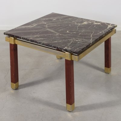 1960's Danish modern marble top side-coffee table by Bendixen