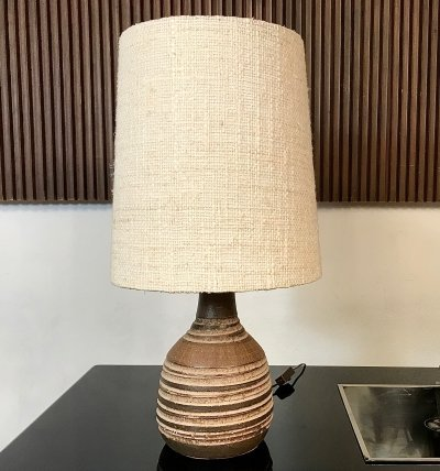 German Large Ceramic Table Lamp, 1960s