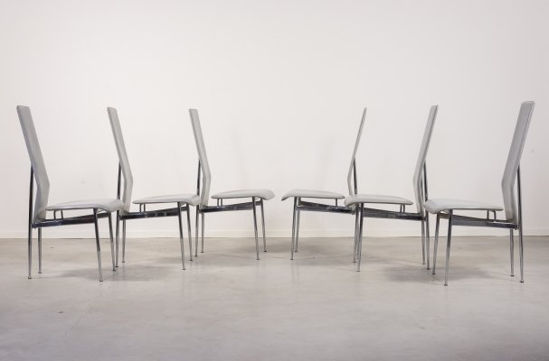 Set of 6 Italian dining chairs by G. Vegni & G. Gualtierotti for Fasem