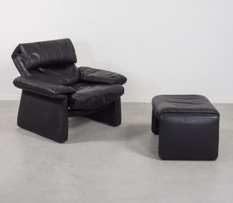 Vintage Erpo lounge armchair with ottoman,1980's