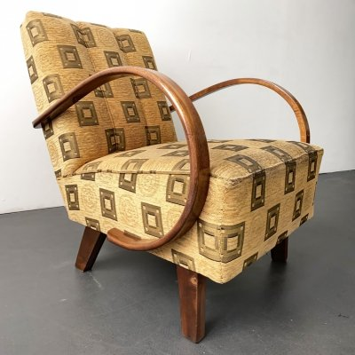 Art Deco Armchair by Jindrich Halabala for UP Zavody, 1930s