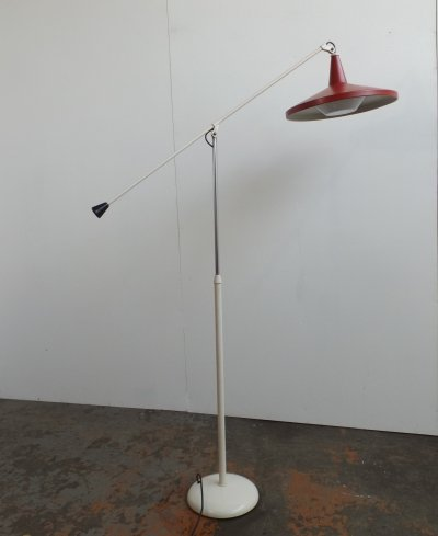 Panama 6350 floor lamp by Wim Rietveld for Gispen, 1950s