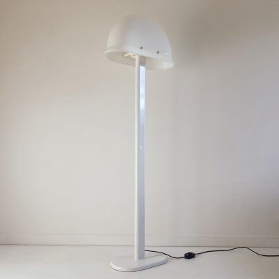 Postmodern White Lucite Floor Lamp by Rodolfo Bonetto for Guzzini, Italy, c.1970