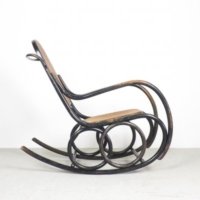 Classic Thonet bentwood rocking chair by TON, 1950's