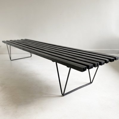 Vintage Slatted 'Interplan' Bench / Table by Robin Day for Hille, c.1950