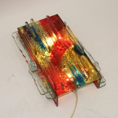 Raak Amsterdam Wall Lamp with Colored Glass, 1960s