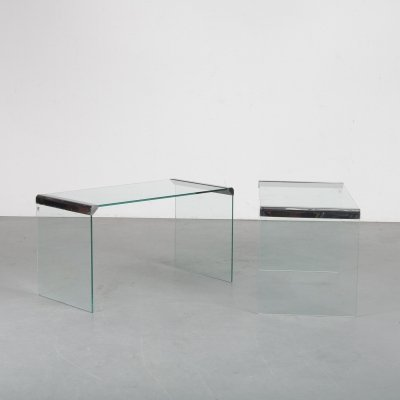 Pair of Italian side tables by Gallotti & Radice, 1970s