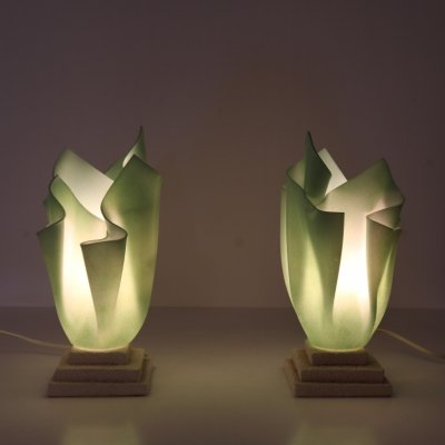 Pair of bed lamps by Georgia Jacobs, France 1970s