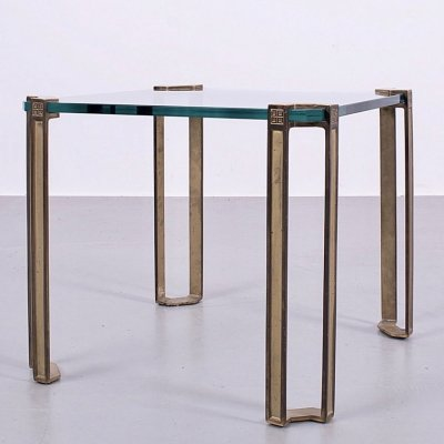 T24 table with brass & thick metal by Peter Ghyczy, 1970s