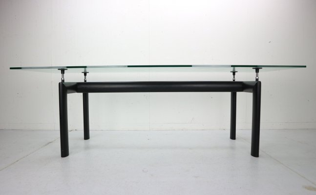 Le Corbusier Glass 'LC6' Dining Table for Cassina, Italy 1970s