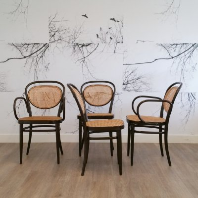 Set of 4 No. 215 Chairs by Michael Thonet for Thonet, 1980s