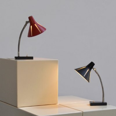 2 table lamps 'Zonneserie' by H. Busquet for Hala Zeist, Holland 1960s
