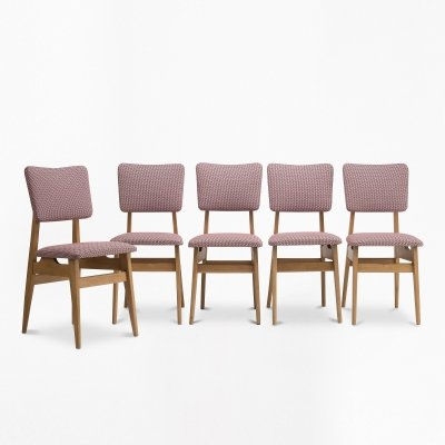 Set of 5 Type 200-178 dining chairs, 1960s