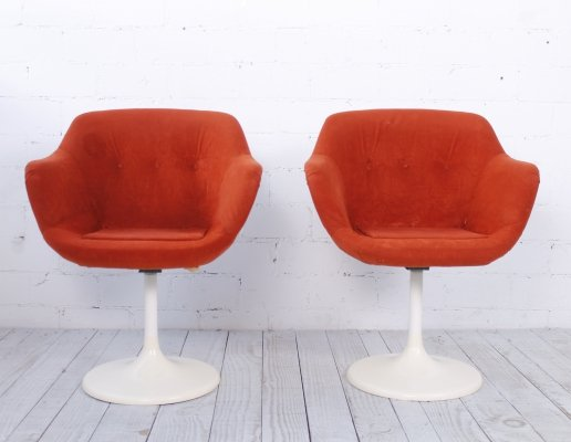 Set of two Tulip Chairs by Lusch & Co, 1970s