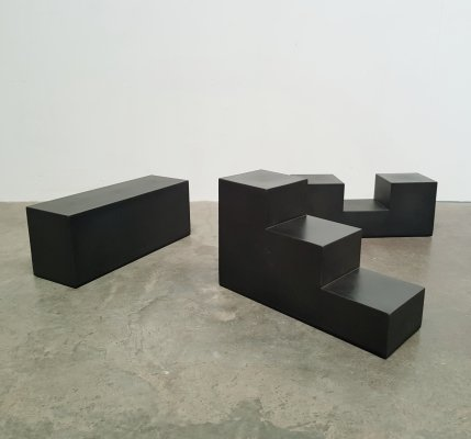 Set of 3 Gli scacchi tables by Mario Bellini for C&B Italia, 1970s